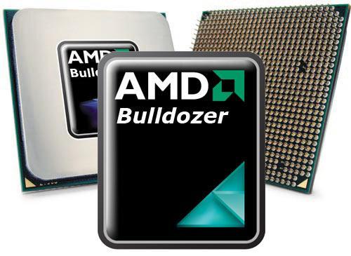 AMD Bulldozer Logo und Chip