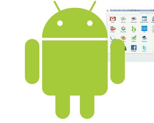 Android Logo vor Chrome OS