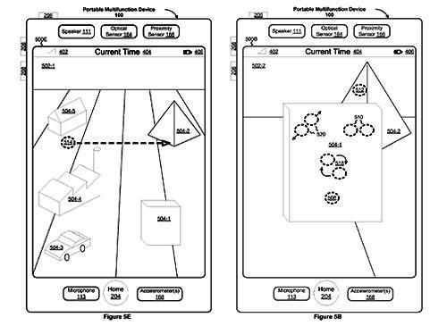 Apple 3D interface für iPhone Konzebtbild