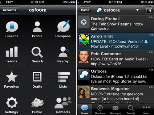 Apple iPhone App Osfoora