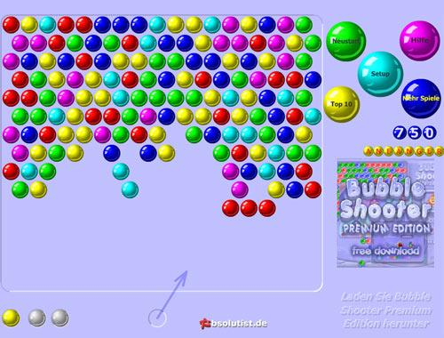bubble shooter online spiele