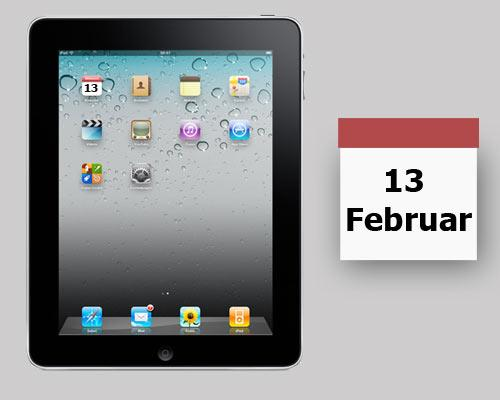 ipad 2 kommt am 13 Februar