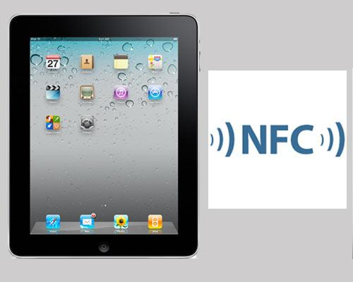 iPad mit NFC Logo