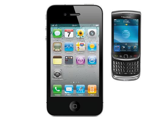 iPhone vor Blackberry
