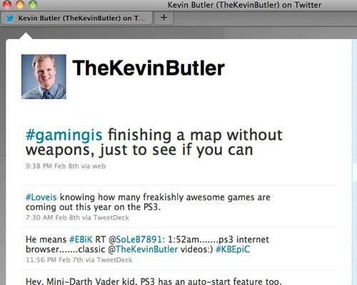 Kevin Butler Twitter nachricht