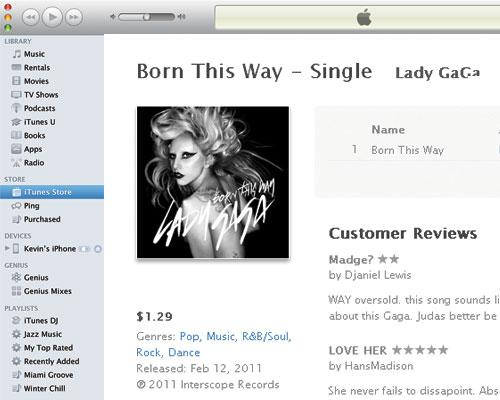 Lady Gaga in iTunes