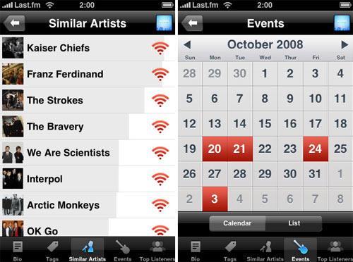 Apple Last.FM app Screenshot