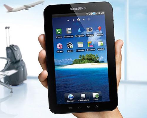 Samsung Galaxy Tab Flughafen