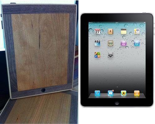 Schnittbrett neben iPad
