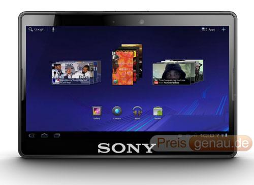 Sony Tablet Frontansicht