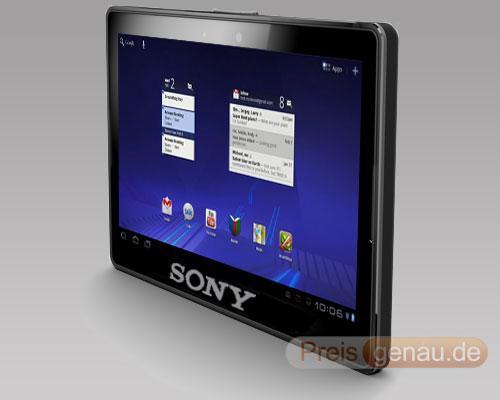 Sony Tablet schräckansicht