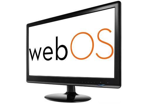 WebOS Logo auf Bildschierm