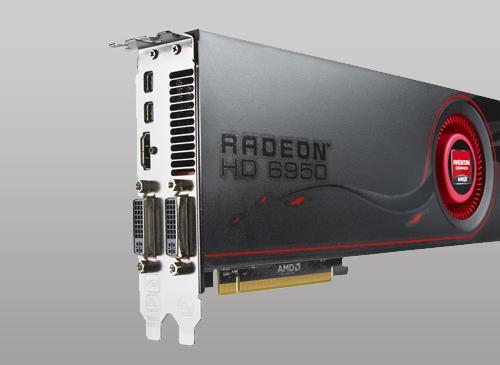 AMD Radeon HD 6950 Frontansicht
