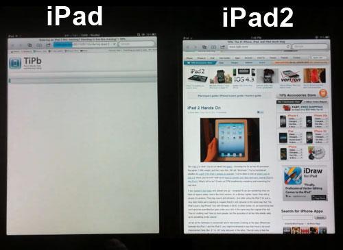 iPAd und iPad2 Browser vergleich