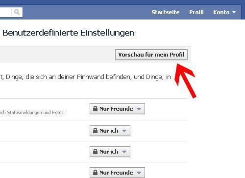 Facebook Sicherheitstipps Privatsphäre Vorschau