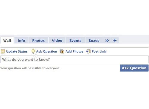 Facebook Frage stellen