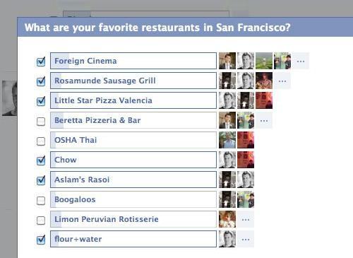 Facebook Frage funktion