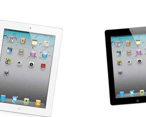 iPad 2 schwarz und weiß Rollend