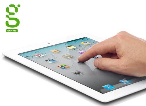 iPad 2 mit Gravis Logo