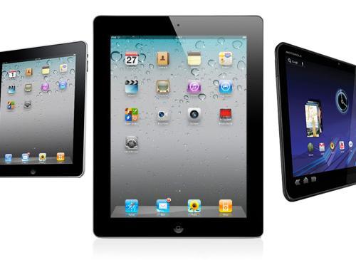 Apple ipad2 im vergleich zu ipad und Motorola Xoom