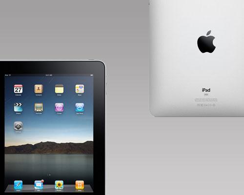 iPad Vorder-Rückseiten ansicht
