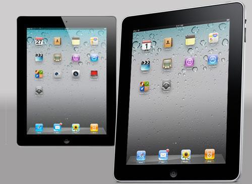iPad 1 Schärgansicht vor iPad 2