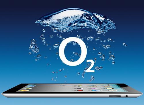 Apple iPAd 2 und O2 Logo