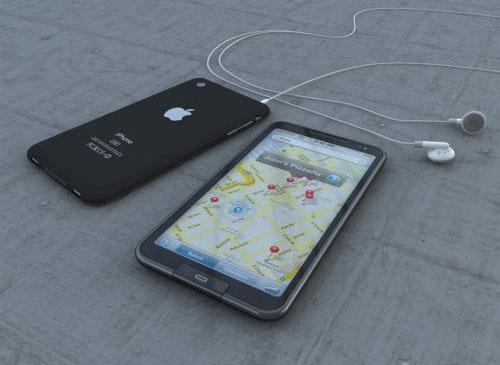 iPhone 5 auf der Starße
