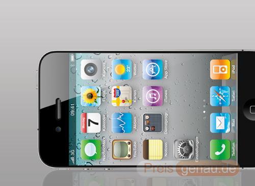 Apple iPhone 5 auf der seite Liegent