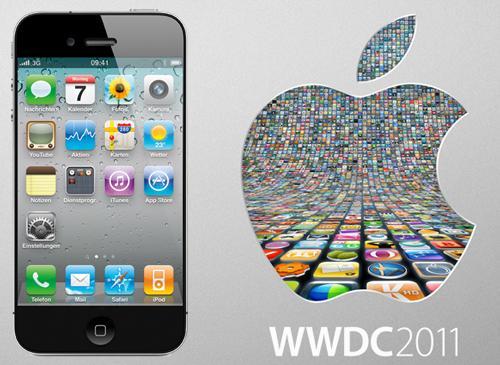 iPhone 5 und Apple Logo WWDC