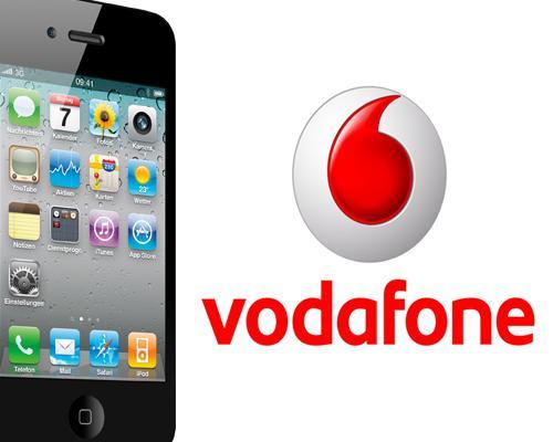 iPhone 4 Und Vodafone logo