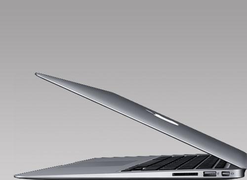 Macbook Air Seitenansicht liegent