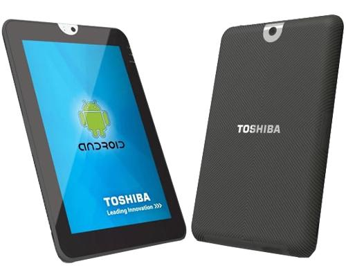 Toshibar Tab Front-Rückseiten ansicht