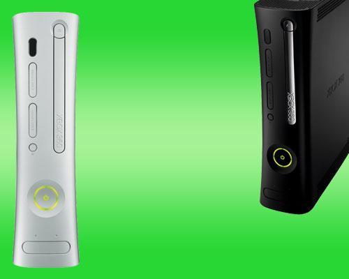 XBox 360 Frontansicht und Schrägansicht