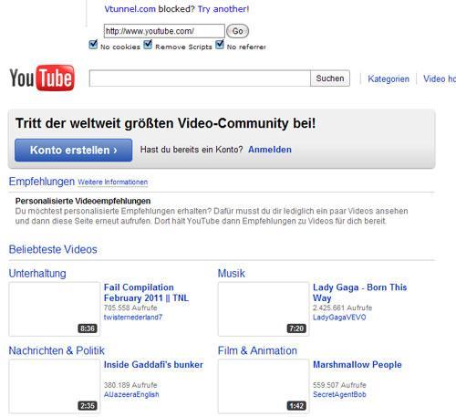 Vtunnel Youtube Startseite