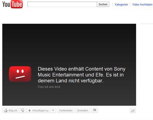 Youtube Sperre