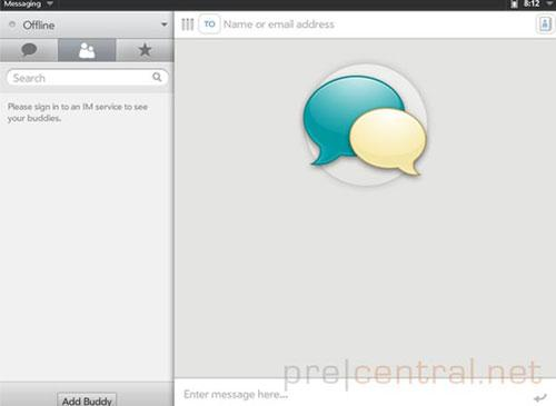 HP WebOS Messenger