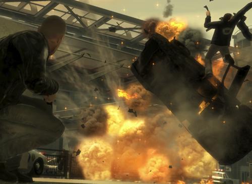 GTA 4 Explosion eines Autos