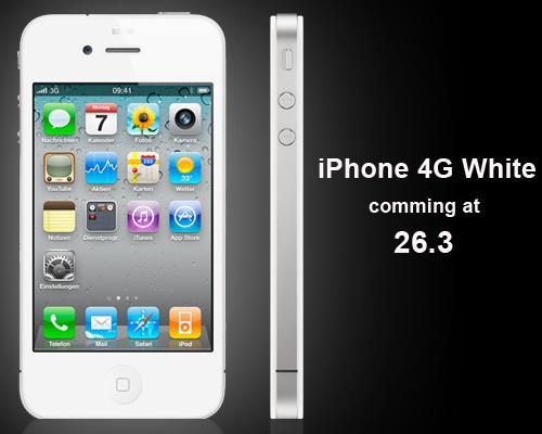 iPhone 4G Weiß Erscheinungsdatum