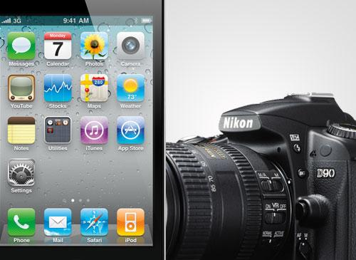 iPhone 4 vs Spiegelreflexkamera