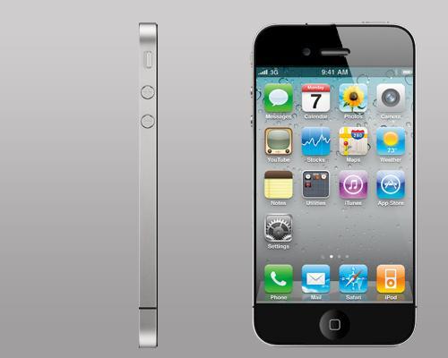 iPhone 5 Frontansicht und Seitenansicht
