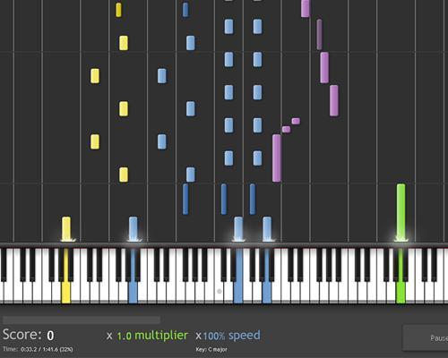 virtuelles keyboard spielen