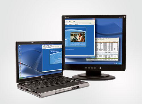 Externen Bildschirm an Notebook