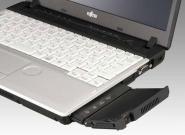 Notebook mit eingebautem Beamer in