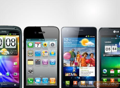HTC vs iPhone vs Samsung vs LG