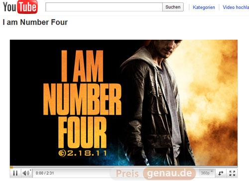 Youtube I am number four