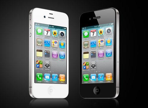 iPhone 4 schwarz & weiß