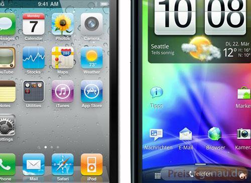 iPhone 4 vs HTC Sensation