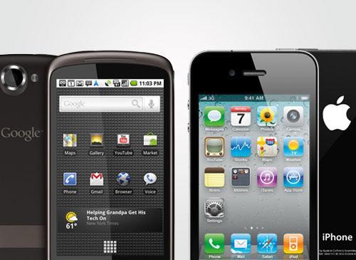Apple iPhone und Google Nexus