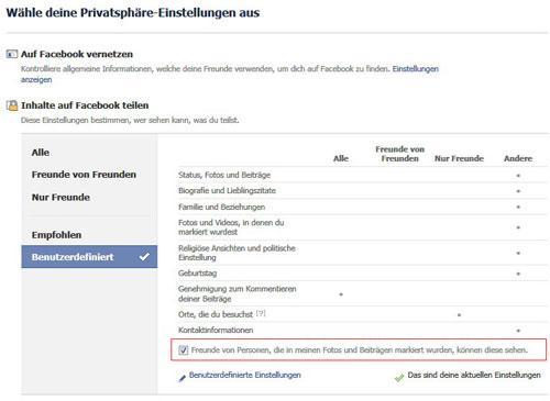 Facebook Gesichtserkennung